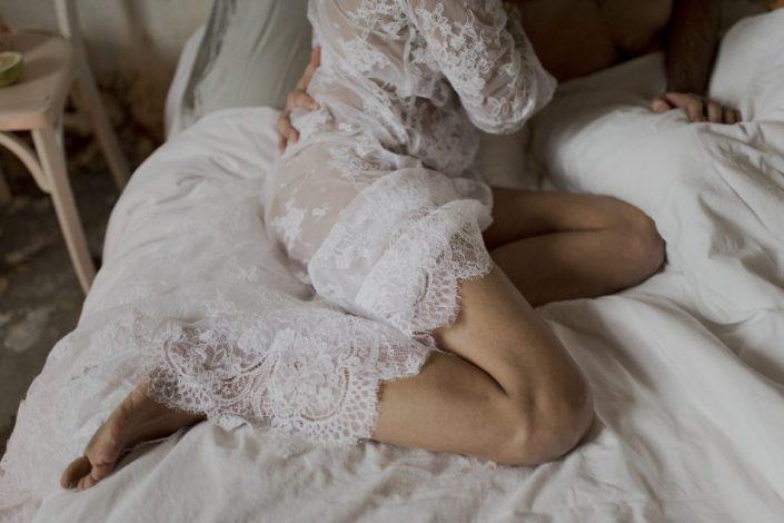 Tenue de mariée en dentelle