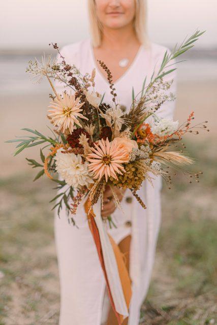 bouquet de mariee fleurs sechees